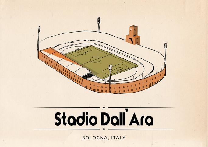 World Of Stadiums: Stadio Dall'Ara - Poster bestellen - 11FREUNDE SHOP
