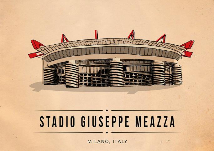World Of Stadiums: Stadio Giuseppe Meazza - Poster bestellen - 11FREUNDE SHOP