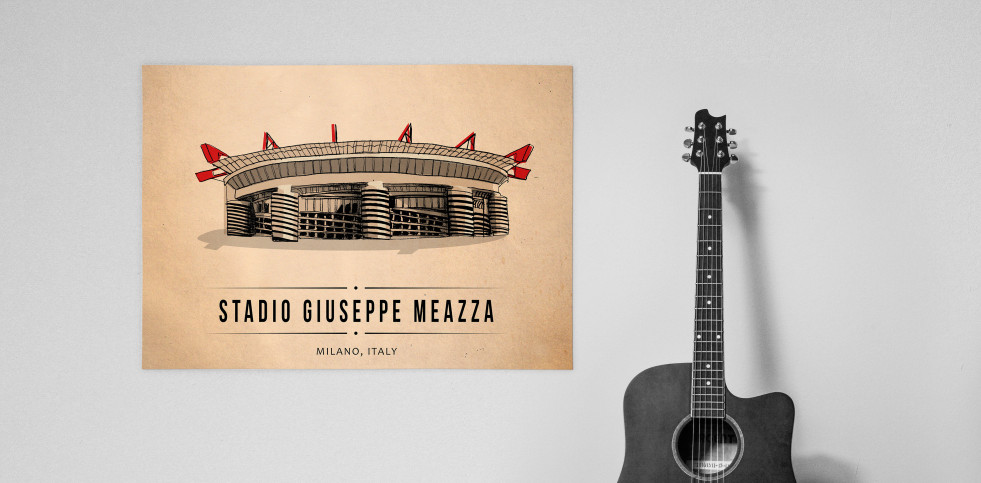 World Of Stadiums: Stadio Giuseppe Meazza - Poster bestellen - 11FREUNDE SHOP