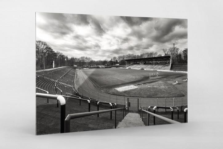 Stadion am Schloss Strünkede in Schwarzweiß - Westfalia Herne Foto von Christoph Buckstegen als Wandbild