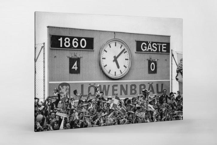 4:0 für 1860 - Foto Anzeigetafel 1860 München als Wandbild
