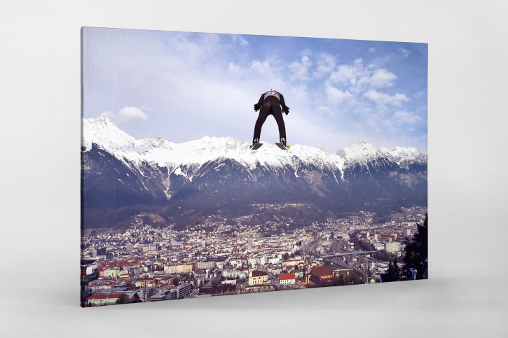 Skisprung über Innsbruck - Wintersport Wandbild