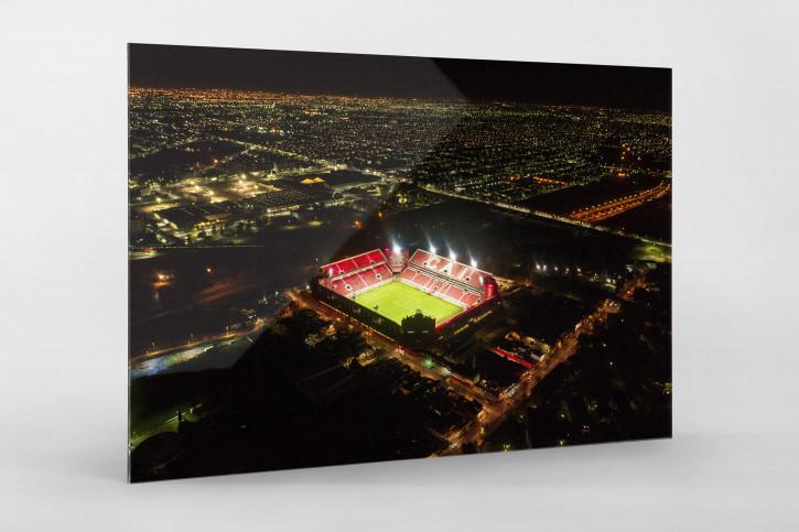Vogelperspektive Estadio Libertadores de América bei Flutlicht - Wandbild CA Independiente