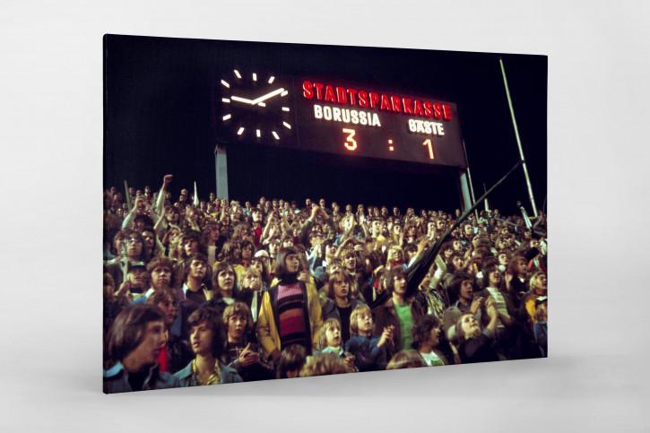 Anzeigetafel auf dem Bökelberg 1974 - Wandbild Borussia Mönchengladbach