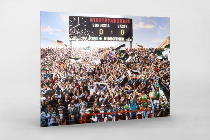 Gladbacher Fankurve 1988 - Borussia Mönchengladbach Wandbild Bökelberg