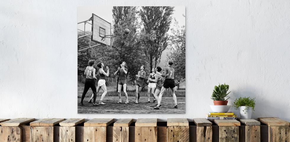 Basketball beim DDR Sportfest 1971 - Sport Fotografien als Wandbilder - Basketball Foto - NoSports Magazin
