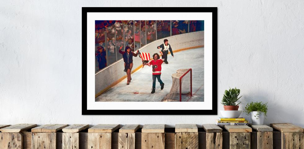 "Jubel nach dem ""Miracle On Ice"" - Sport Fotografie als Wandbild - Eishockey Foto - NoSports Magazin"