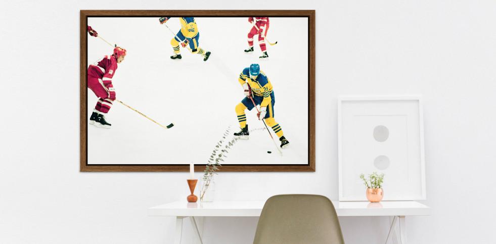UDSSR vs. Schweden 1984 - Sport Fotografien als Wandbilder - Eishockey Foto - NoSports Magazin