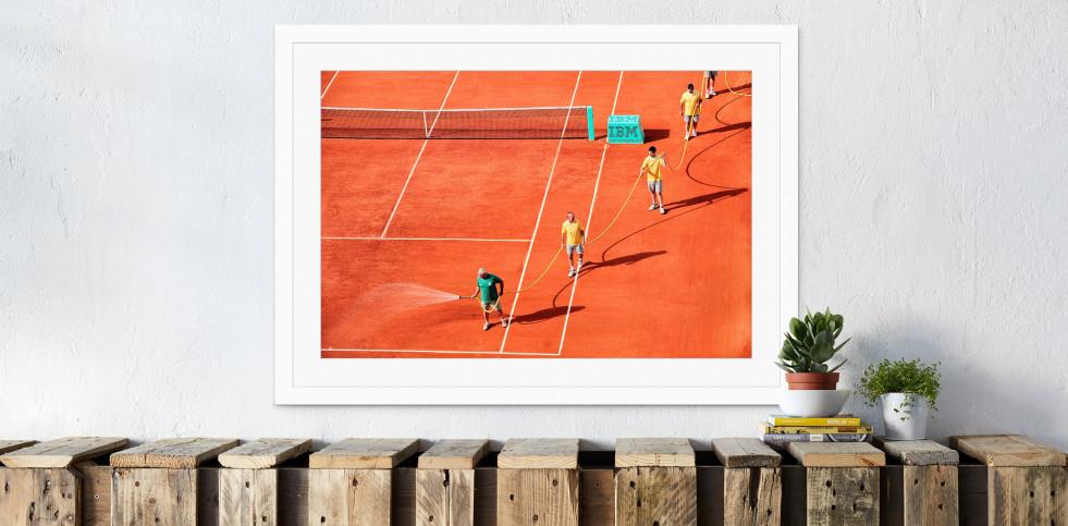 Bewässerung - Sport Fotos als Wandbilder - Tennis Foto - NoSports Magazin