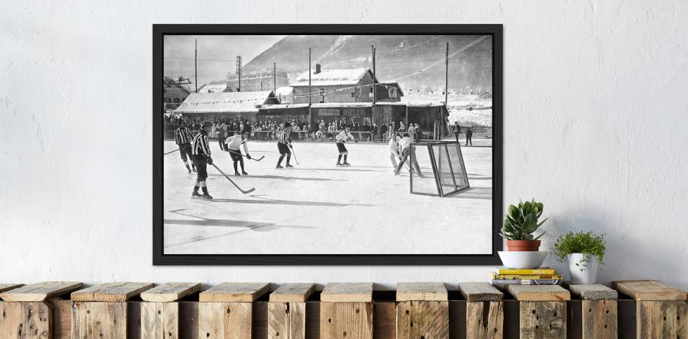 Eishockey in Chamonix (1) - Sport Fotografien als Wandbilder - Eishockey Foto - NoSports Magazin