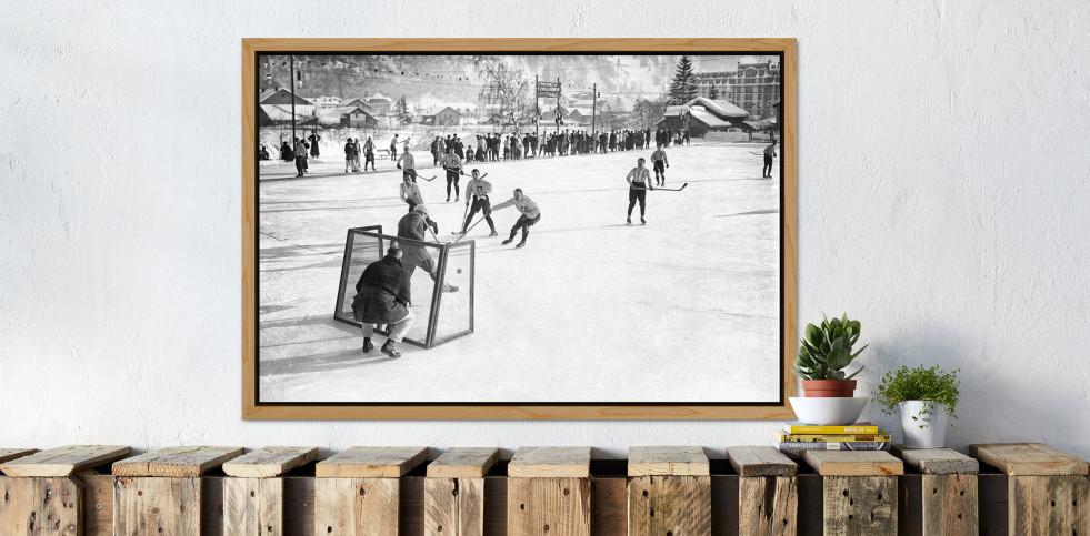Eishockey in Chamonix (2) - Sport Fotografien als Wandbilder - Eishockey Foto - NoSports Magazin