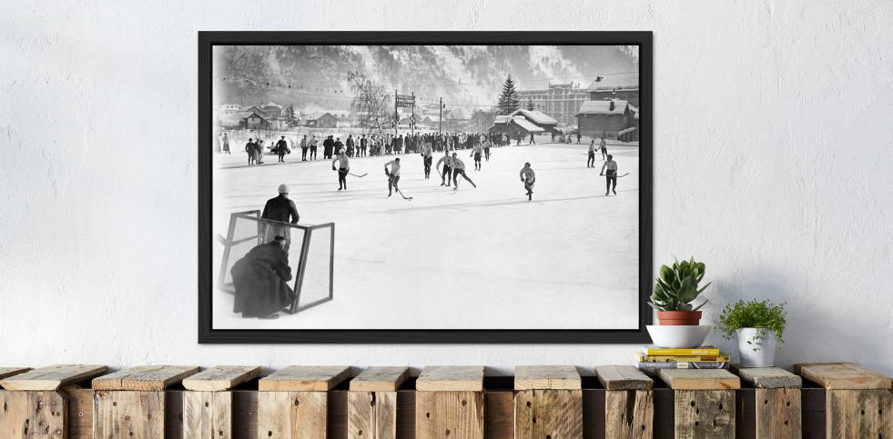 Eishockey in Chamonix (3) - Sport Fotografie als Wandbild - Eishockey Foto - NoSports Magazin