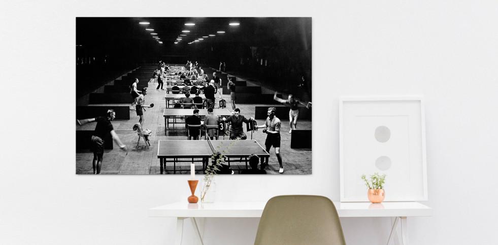 Tischtennis 1954 - Sport Fotografien als Wandbilder - Tischtennis Foto - NoSports Magazin - 11FREUNDE SHOP