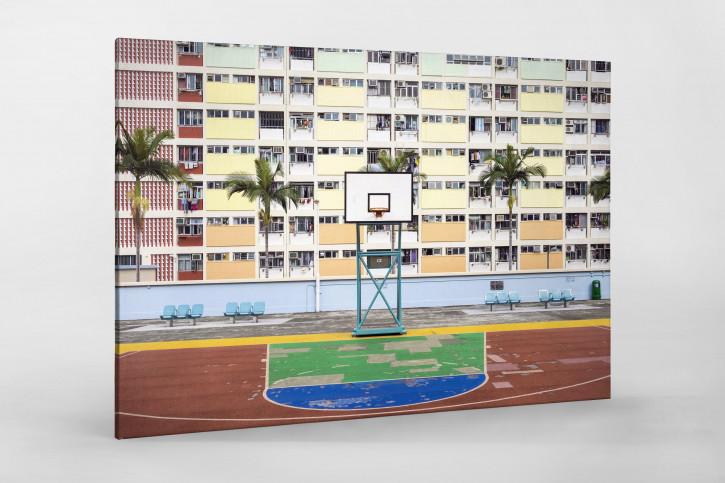 Basketballplatz in Hongkong - Sport Wandbild - 11FREUNDE SHOP