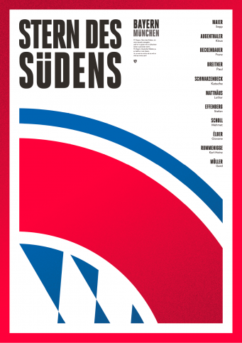 Legendary XI: Bayern - Poster bestellen - 11FREUNDE SHOP