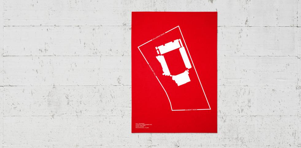 Stadionpiktogramm: Arsenal (Highbury) - Poster bestellen - 11FREUNDE SHOP