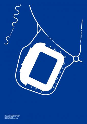 Piktogramm: Leicester - Poster bestellen - 11FREUNDE SHOP