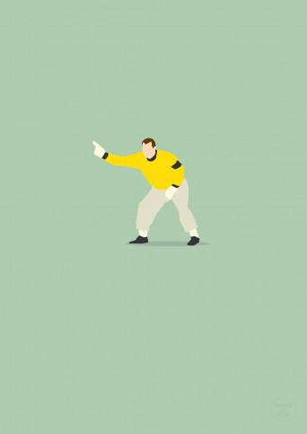Rickenlage - Poster Gabor Kiraly Hertha BSC - Hands Of God - 11FREUNDE SHOP