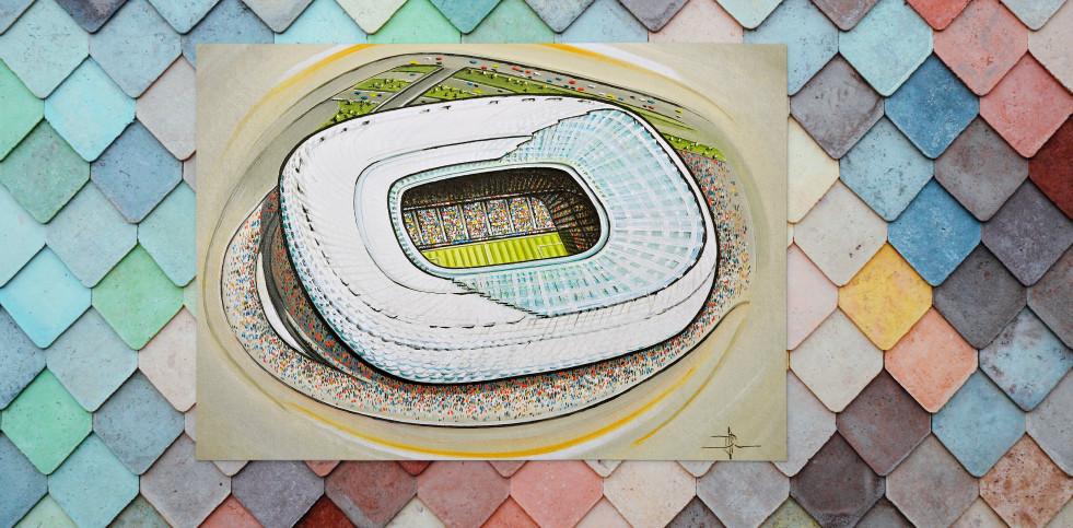 Stadia Art: Allianz Arena - Poster bestellen - 11FREUNDE SHOP