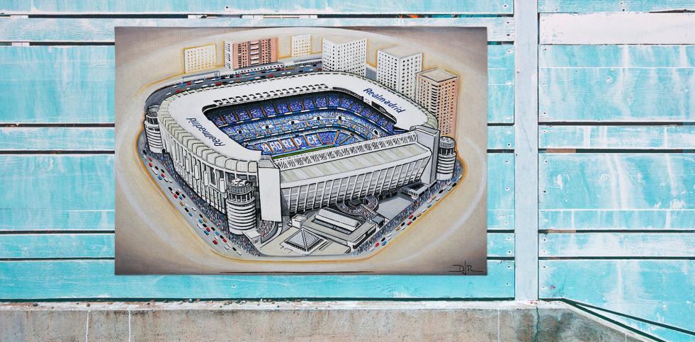 Stadia Art: Bernabéu - Poster bestellen - 11FREUNDE SHOP
