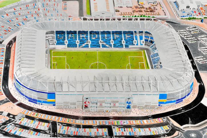 Stadia Art: Cardiff City Stadium - Poster bestellen - 11FREUNDE SHOP