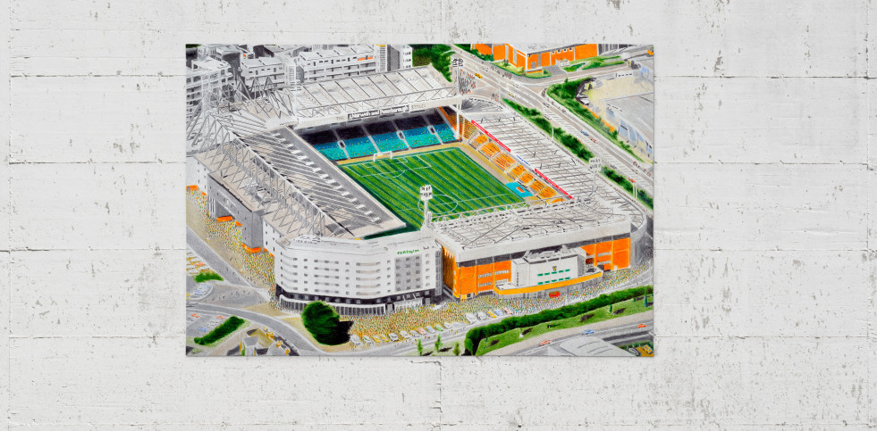Stadia Art: Carrow Road - Poster bestellen - 11FREUNDE SHOP