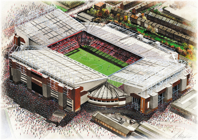 Stadia Art: Old Trafford - Poster bestellen - 11FREUNDE SHOP