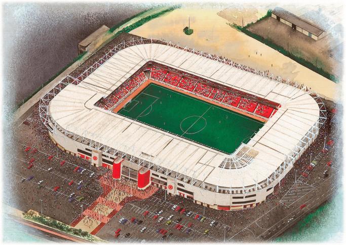 Stadia Art: Riverside Stadium - Poster bestellen - 11FREUNDE SHOP