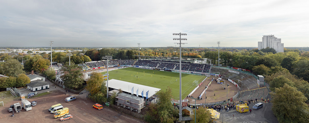 Vogelperspektive Preußenstadion - 11FREUNDE BILDERWELT