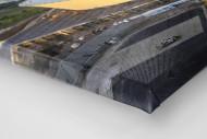 Cape Town Stadium und Segelboote als Leinwand auf Keilrahmen gezogen (Detail)