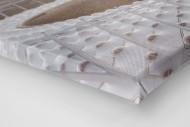 Dach vom Olympiastadion Kiew als Leinwand auf Keilrahmen gezogen (Detail)