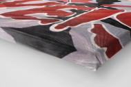 Fans And Flags als Leinwand auf Keilrahmen gezogen (Detail)