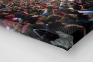 Fankurve im Giuseppe Meazza Stadion als Leinwand auf Keilrahmen gezogen (Detail)