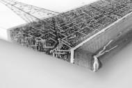Leere Tribüne im Hampden Park als Leinwand auf Keilrahmen gezogen (Detail)