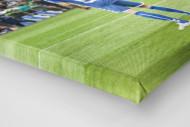 HSV Freistoß ins Glück (Farbe) als Leinwand auf Keilrahmen gezogen (Detail)
