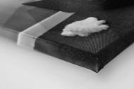 Melancholisches Maskottchen als Leinwand auf Keilrahmen gezogen (Detail)