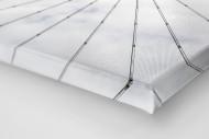 Frankfurter Videowürfel als Leinwand auf Keilrahmen gezogen (Detail)