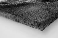 Weitsprung in Schwarzweiss als Leinwand auf Keilrahmen gezogen (Detail)