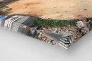 Fußballplatz in São Paulo als Leinwand auf Keilrahmen gezogen (Detail)