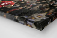 Gerrard vor den Fans (Covermotiv 11FREUNDE #159) als Leinwand auf Keilrahmen gezogen (Detail)