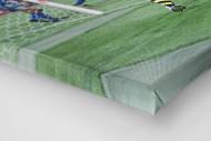 Riedle und Kohler jubeln als Leinwand auf Keilrahmen gezogen (Detail)