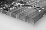 HSV Freistoß ins Glück (sw) als Leinwand auf Keilrahmen gezogen (Detail)