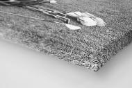 Abschlagtraining als Leinwand auf Keilrahmen gezogen (Detail)