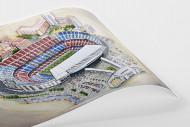 Stadia Art: Camp Nou als Poster