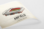 World Of Stadiums: Anfield als Poster