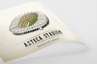 World Of Stadiums: Azteca Stadium als Poster