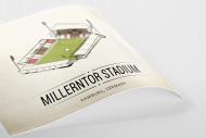 World Of Stadiums: Millerntor Stadium als Poster