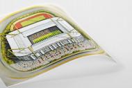 Stadia Art: Westfalenstadion als Poster