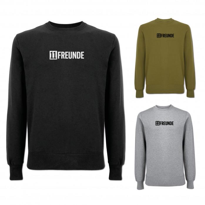 11FREUNDE: Logo-Sweater (Fairwear & Bio-Baumwolle)