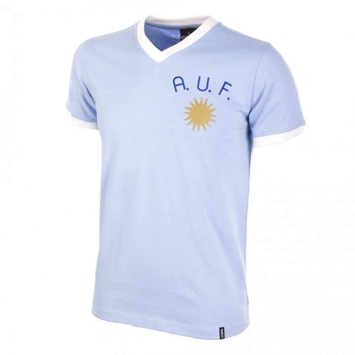 Uruguay 1970's Short Sleeve Retro Football Shirt